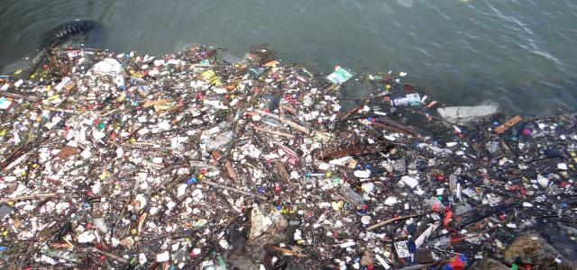 Photo of plastic marine waste